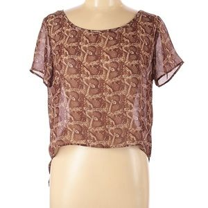 Urban Outfitters M.b.D Snakeskin Print Blouse